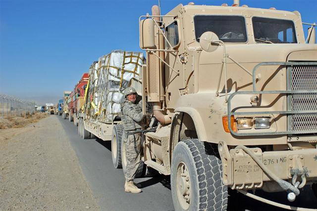 "The Army National Guard's ""Drive the Guard"" program is putting soldiers behind the wheel while they are in uniform and helping them to qualify for fulltime civilian employment as a truck driver."