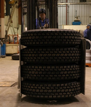 Putting a new tire onto a truck that prematurely killed the previous tire is consigning the new tire to an early grave. You have to know what killed the first tire to prevent it from happening again.