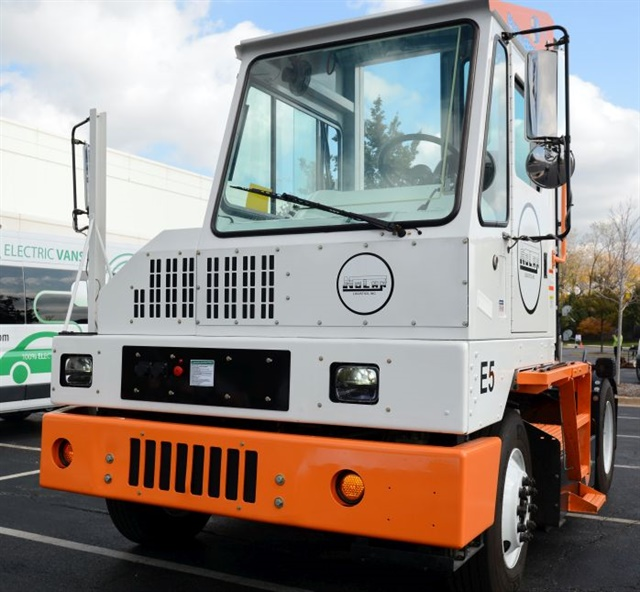 Orange EV's T-Series terminal tractor looks and works just like a diesel, but its fully electric drive system produces no emissions and can save up to 90% over existing fuel and maintenance costs. Photos: Jim Park