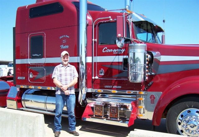 Some owner-operators, like Con-way Truckload's David Foster, like to compete in truck beauty contests. Photo: Con-way Truckload