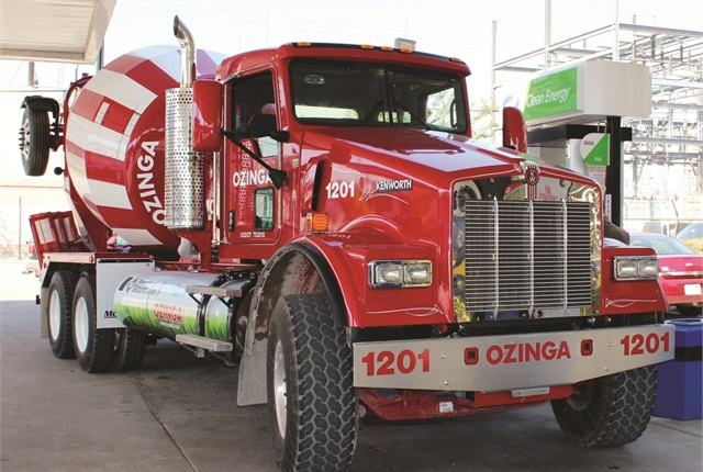 Ozinga Ready Mix plans to have its whole fleet running CNG by 2020. The trucks are not only cleaner, but quieter, a plus when working in residential areas.