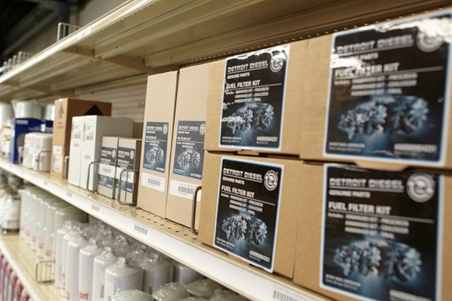 A well-managed parts inventory helps can help a heavy-duty truck fleet prevent downtime and save money. Photo: Paul Hartley