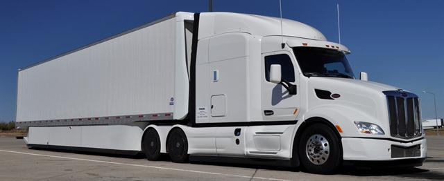 Peterbilt's first-generation SuperTruck concept vehicle approached the 10-mpg mark.