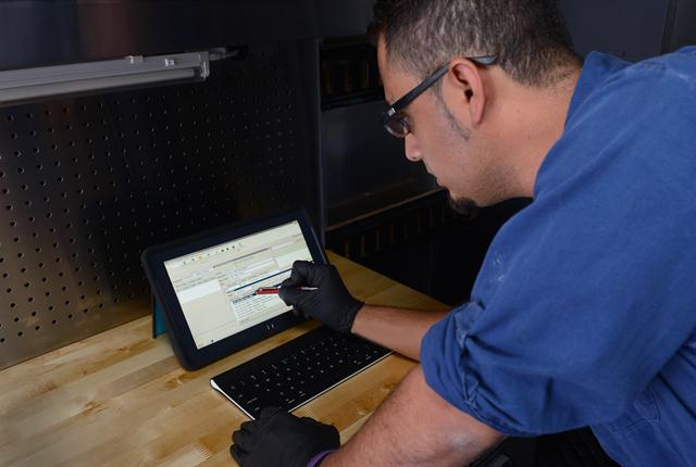 Technology can be used to capture data during a PM service. The data can then be used to further customize the inspection.