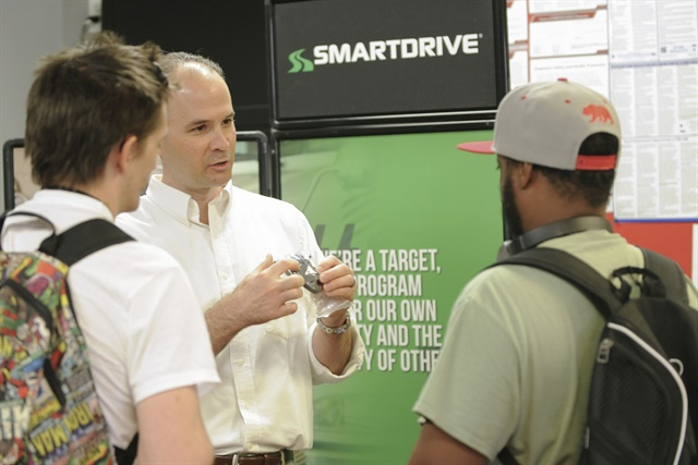 SmartDrive representatives at Knight's service center answered any questions that drivers had about the video monitoring system.