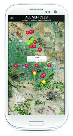 Many SaaS fleet tracking applications, such as those from GPS Insight can be run on mobile devices as well in the office. Photo: GPS Insight