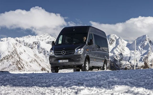 Ski resorts are one type of customer that might buy a Sprinter 4x4. Introduced in Europe last year, it's coming to North America as a 2015 model in January.
