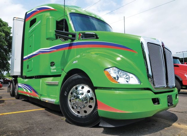 Kenworth pushed the T680 into new aero territory with an add-on package that is said to lower drag by about 2%. Photo: Jim Park