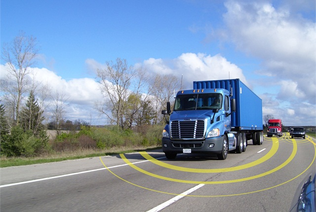 A truck's telematics unit acts as a communications hub, transmitting data from various sensors and systems on the truck. While they send the collected data back to the fleet, they also receive data such as driver instructions, or commands to various devices such as the refrigeration unit.