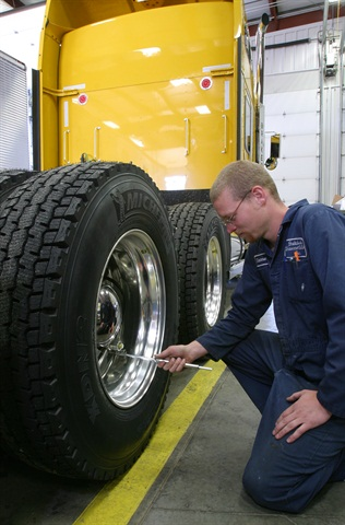 Frequent tire pressure check are useful, but could be counterproductive if tires are hot or ambient temperatures change dramatically from where the tires are checked. Photo courtesy of Michelin.