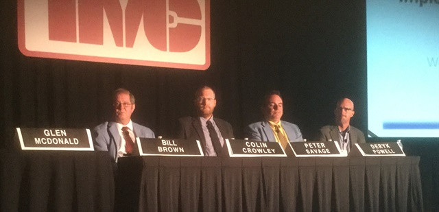 TMC panelists Bill Brown, Colin Crowley, Peter Savage and Deryk Powell outlined what they've learned as more and more fleets struggled to adopt new technologies and make them work effectively. Photo: Jack Roberts