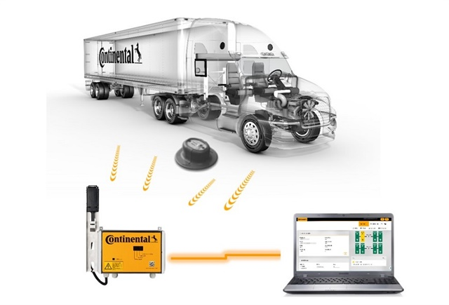 Continental's new Conti-Check system uses remote sensor readings to collect data and transmit it to any fleet location on the planet for evaluation. Photo: Continental