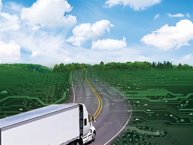 Trucking companies generate massive amounts of data and these days, much of it is stored in the cloud. Image: HDT