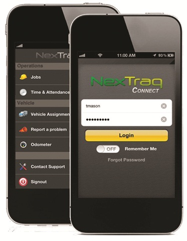 Systems such as NexTraq's can run on smartphones, providing dispatching instructions and other information.
