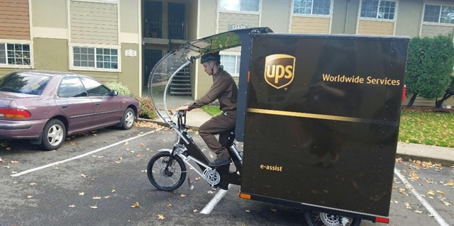 What happens when your shop has to maintain electric bikes like this UPS one in Portland, Oregon? It's just one example of how things are changing. Photo: UPS