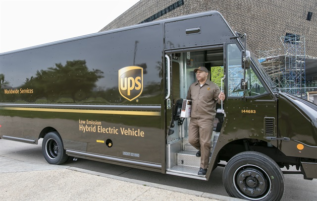 CNG, gasoline, propane and hybrid-electric package cars are among UPS's methods to achieve worldwide sustainability.