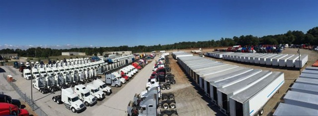 Jordan Truck Sales in Georgia refurbishes many of the hundreds of trucks and trailers it offers. Most can be had with warranties. Photo: Jordan Truck Sales