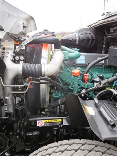 Volvo D13 has the highest rating of 500 hp and 1,750 lb-ft. Also available is the lighter D11 diesel.