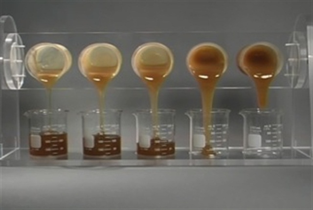 Kinematic viscosity is what you might envision when thinking of viscosity – gravitational flow. But the new oils will meet viscosity standards measured at high temperatures/high shear conditions.