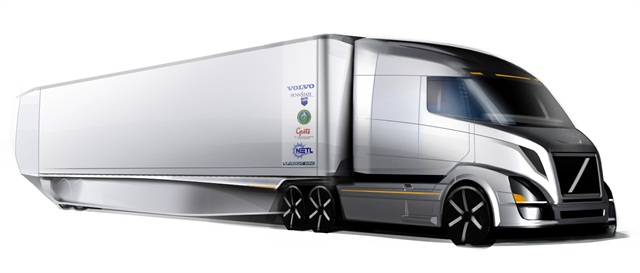This is what a tractor-trailer could look like following the work being done through the SuperTruck program.