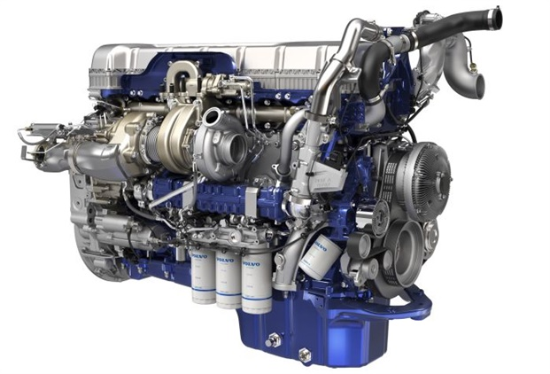 """Volvo Group engines are now using common rail fuel injection and the new """"wave piston"""" to optimize combustion and nearly eliminate soot as a byproduct. Photo: Volvo"""