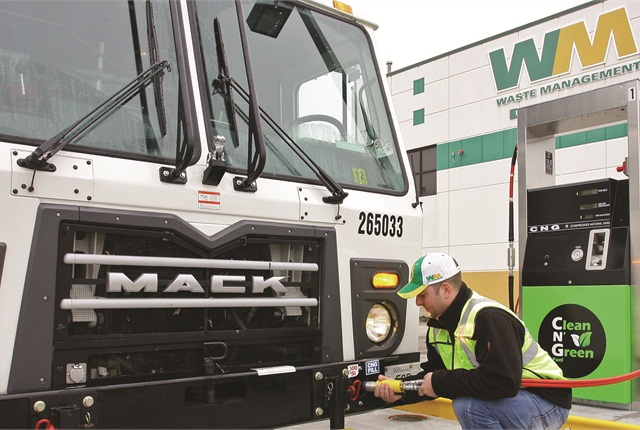 A leader in converting the refuse industry to natural gas, Waste Management expects to have 4,000 natural gas trucks (mostly CNG) by the end of 2014. It even offers its own brand of renewable diesel made from landfill methane, called Clean N Green CNG.