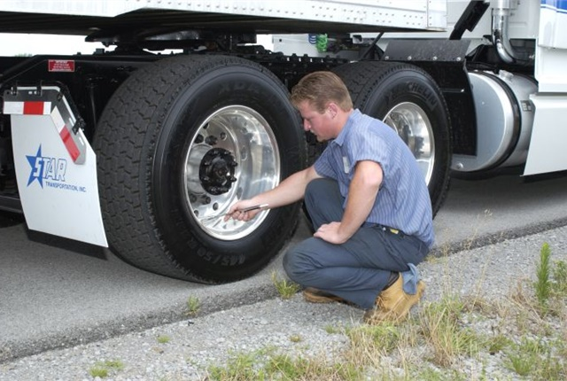 Getting driver buy-in on regular tire inspections and pressure checks will prolong tire life and reduce costs. Photo: Michelin