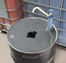 The new Oil Eater drum top pad is designed to catch and absorb oil, coolants, solvents and more.
