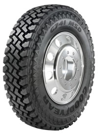 Goodyear's new G741 MSD truck tire is made for oil field, mining, logging and construction applications.