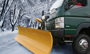 Mitsubishi Fuso is offering plow kits for its Canter FG4X4.