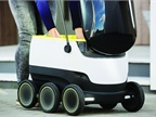 Small delivery robots like this one may soon be delivering medicines,