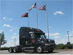 Garner Trucking is testing dual-fuel (CNG-diesel) glider kits, burns