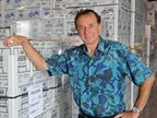 Forrest Lucas at the bottling conveyer belts in Lucas Oil's second plant in Corydon, Indiana. Photo: Lucas Oil