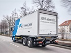 Daimler Trucks has a 'Baby 8' eActros electric truck in fleet testing in Europe; is an e-Cascadia next? Photo: Mercedes-Benz