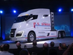 The Nikola One sleeper-cab prototype unveiled in early December in