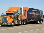 Long Haul Trucking's gunslinger paint job has made the rounds not only along the highways and byways, but also at industry events, such as the Mid-America Trucking Show last March.