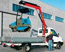 The PK 4200, new in the small knuckle boom class, includes a new extension system that allows up to 32 feet, 2 inches of hydraulic reach.