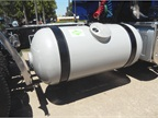 A steel DME fuel tank is the same kind used for propane. The modest