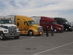 Heavy-duty Truck of the Year candidates await judging.