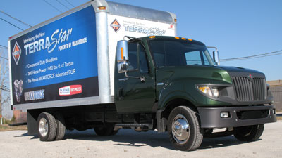 International TerraStar is a downsized heavier truck, and looks it, with its big cab nestled onto the low-slung frame.