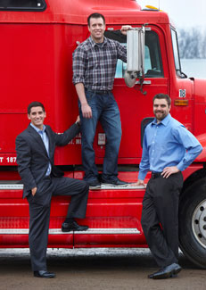 The CDL Career Now! Team: (L to R) Craig Jablonski, CEO; Ben Onnie, VP of Operations, and Tyler LeBarge, VP of Business Development.
