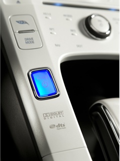 Photo courtesy of General Motor Corp. The push-botton, keyless start function in the 2011 Chevrolet Volt.