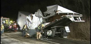 The badly damaged trailer had to be dismantled before it could be removed from the scene. (Photo by ABC News27 WHTM)