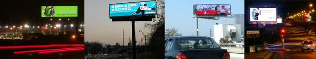 Do these animated electronic billboards distract drivers? (Photo courtesy of adsemble.com)