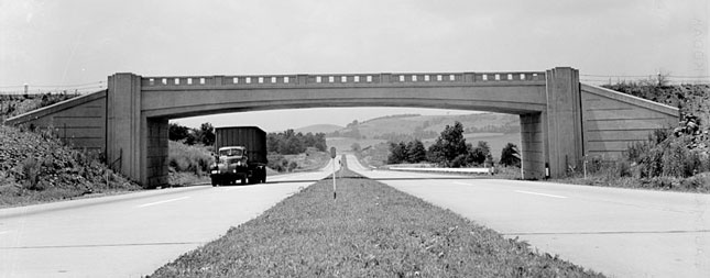 The Pennsylvania Turnpike in 1942.
