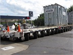 Count the Wheels Under This Heavy-Haul Trailer!