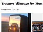 New York Times Paints Portrait of Truckers' Lives on the Road