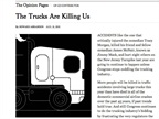NYT Op-Ed Attacks Trucking Industry – From the Inside