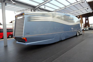Futuristic road train from MAN and Krone Trailer.