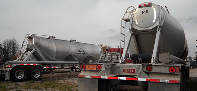 Sidley plans to soon have 50 pneumatic tankers hauling fracking sand to area natural gas wells. Photo by Tom Berg.